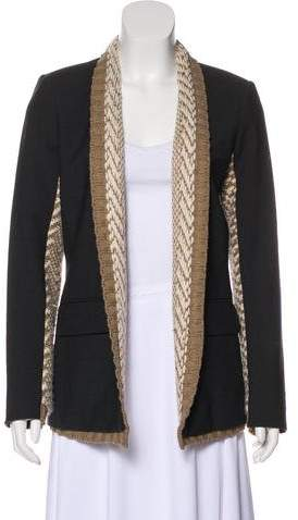 Yigal Azrouel Knit-Accented Wool Blazer
