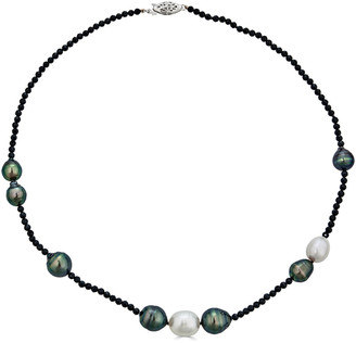 BELPEARL 14K Spinel 10Mm South Sea & Tahitian Necklace