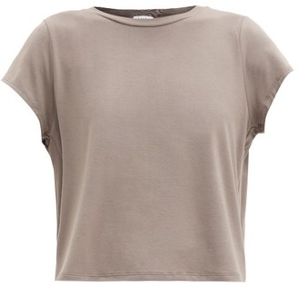 Vaara Nadia Cropped Jersey T-shirt - Light Brown