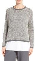 Eileen Fisher Women's Organic Cotton Boucle Sweater