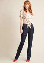 Wrangler Straight-Leg Sass Jeans - 33 in 18W - Straight Denim Pant by from ModCloth