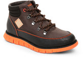 Cole Haan Kids Boys) Chocolate Zerogrand Hiker Boots