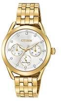 Citizen Women's 'Drive' Quartz Stainless Steel Casual Watch, Color:Gold-Toned (Model: FD2052-58A)