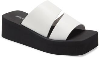 Jeffrey Campbell Wavey Wedge Slide Sandal