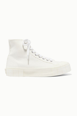Good News Net Sustain Organic Cotton-canvas High-top Sneakers - White