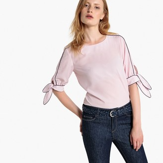 La Redoute Collections Tied-Sleeve Blouse