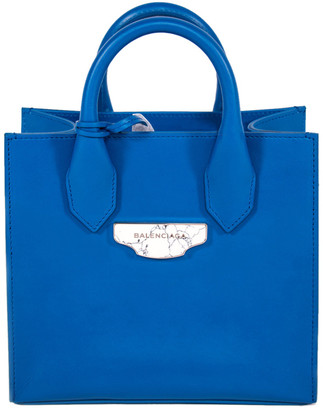 Balenciaga Blue Leather Leather Mini All Afternoon Tote