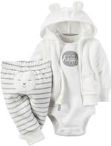 Carter's 3-pc. Hooded Cardigan Layette Set - Babies newborn-24m