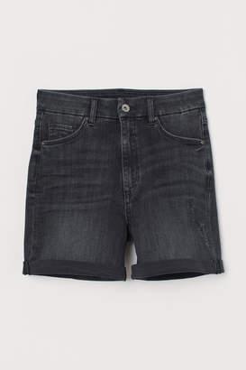 H&M Embrace High Denim Shorts - Black