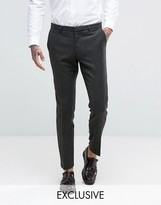 Heart & Dagger Skinny Suit Trousers In Dogstooth