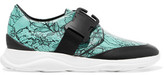 Christopher Kane Buckled Printed Leather Sneakers