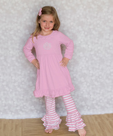 Princess Linens Light Pink Monogram Dress & Pants - Infant, Toddler & Girls