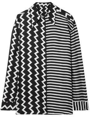 Stella McCartney Oversized Printed Silk-moire Shirt