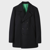Paul Smith Men's Black 'A Coat To Travel In' Wool Peacoat
