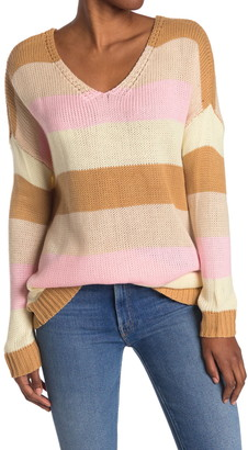 Mustard Seed Multicolored Striped Dolman Sweater