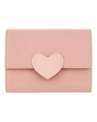 Simply Be Valentines Solid Heart Clutch