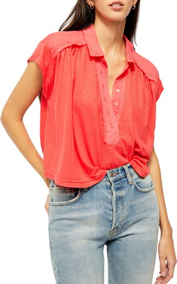 Free People Low Down Knit Top