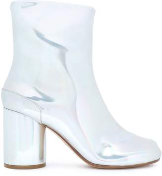 Maison Margiela Tabi Split-toe Holographic Faux Leather Ankle Boots