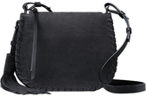 AllSaints Mori Suede Across Body Bag, Black