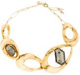 Alexis Bittar Crystal Oval Link Collar Necklace