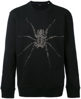 Lanvin spider embroidered sweater - men - Cotton/glass - S