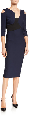 Roland Mouret Kiverton Crepe Cutout Sheath Dress