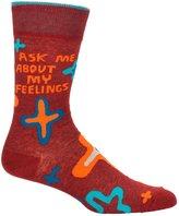 Blue Q Men's Novelty Crew Socks - (Mens Size 7 - 12) with Sock Ring