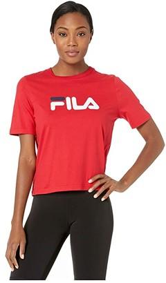 Fila Miss Eagle Tee (White/Navy/Red) Women's T Shirt