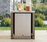 Pottery Barn Abbott Outdoor Kitchen Refrigerator Cabinet, Gray Wash