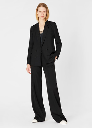 Paul Smith A Suit To Travel In - Women's Black Wool Double-Breasted Blazer