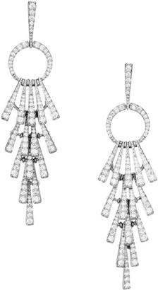 Adriana Orsini Gia Rhodium-Plated & Cubic Zirconia Cascade Post Earrings