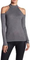 Blvd Ribbed Cold Shoulder Sweater