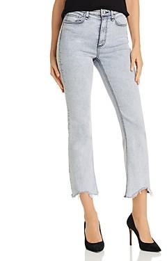 Rag & Bone Nina High-Rise Ankle Flare Jeans in Marble White