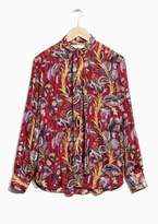 Other Stories Neck Tie Blouse