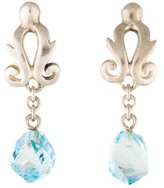Robin Rotenier Sterling Topaz Drop Earrings