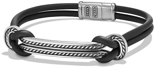 David Yurman Maritime Rubber ID Bracelet in Black