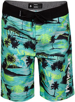 Hurley Boys 4-7 Doodle Palm Trees Board Shorts