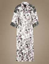 Marks and Spencer Printed Long Wrap Dressing Gown