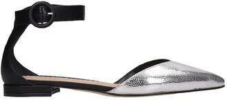 The Seller Ballet Flats In Silver Leather