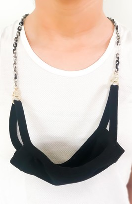 Ruby Grey Adult Face Mask Chain