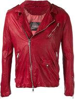 Giorgio Brato moto jacket - men - Leather/Cotton/Nylon - 50