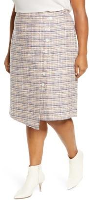 Halogen Faux Wrap Pencil Skirt