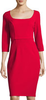 Alexia Admor Scoop-Neck Sheath Dress, Red
