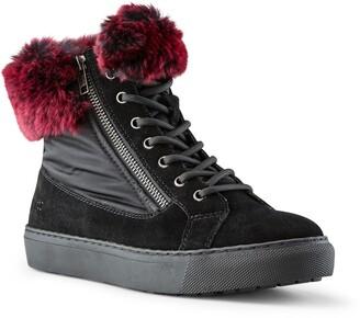 Cougar Danica Sneaker Boot with Genuine Rabbit Fur Trim