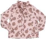 Ermanno Scervino Floral Printed Satin Shirt