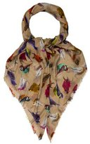 Mulberry Modal Bird Print Scarf