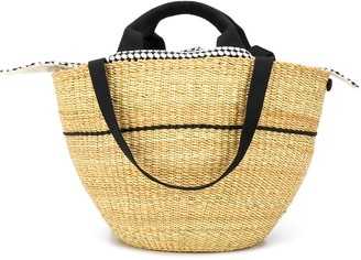 Muun Linedel detachable-pouch beach bag