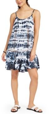 Raviya Sleeveless Tie-Dye Crochet Cover-Up Dress Women's Swimsuit