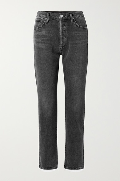 Net Sustain The Benefit High-rise Straight-leg Jeans - Dark gray