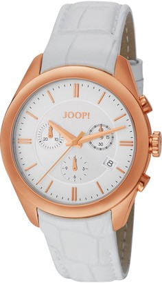 JOOP! Joop Aspire Chrono Women's Quartz Watch with White Dial Chronograph Display and White Leather Strap JP101042F03